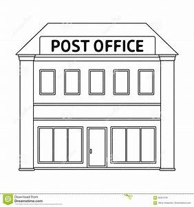 Post Office Mail And Postman Single Icon In Outline Style