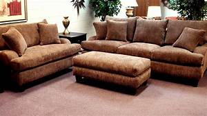 Oversized sofa and loveseat style oversized couches living for Deep sectional sofas living room furniture