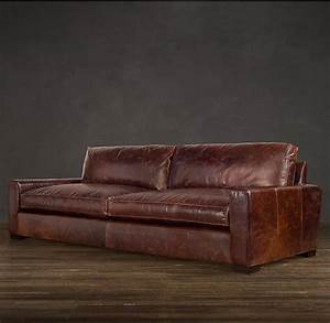 maxwell leather sofas restoration hardwarelove the With leather sectional sofa repair