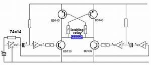 h bridge With circuit on off latch circuit