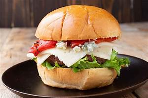 white and blue cheeseburger culinary
