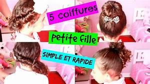 Coiffure Facile Pour Petite Fille : 5 coiffures petite fille simple et rapide youtube ~ Nature-et-papiers.com Idées de Décoration