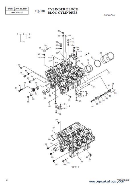 terex txs lc  heavy excavator parts manual