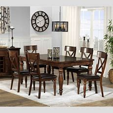 Kingstown 7piece Dining Room Set  Chocolate  Leon's