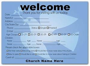 Church welcome cards google search pew cards for Church welcome card template