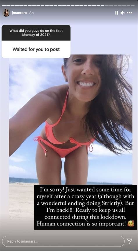 Janette Manrara issues apology for 'wanting time for ...