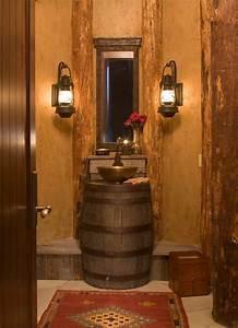 Bathroom rustic impressions bathroom decorating ideas for Barn lights for bathroom