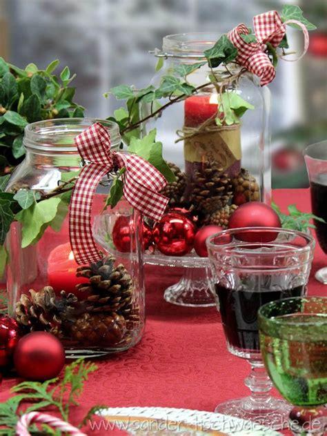 tischdeko weihnachten basteln tischdeko diy herbstliche dekoration mit weckgl 228 sern