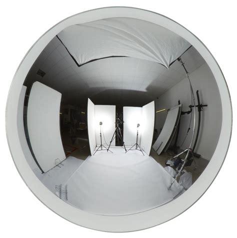 design bureau magazine miroir dome convexe ø 40 cm chromé tom dixon