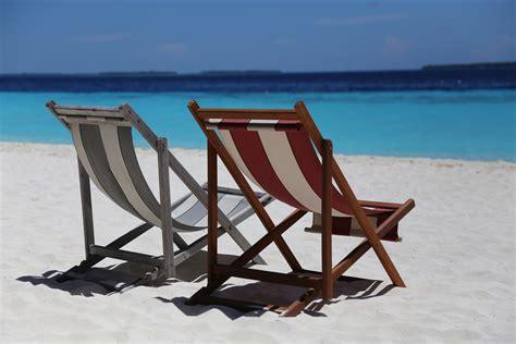 free stock photo of beach beach chairs beautiful