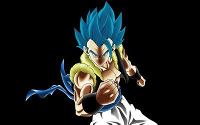 wallpapers  gogeta black background dbs