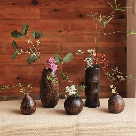 Wooden Flower Vase by Handcraft Paulownia Wood Flower Vase Teriyaki Is A Wooden