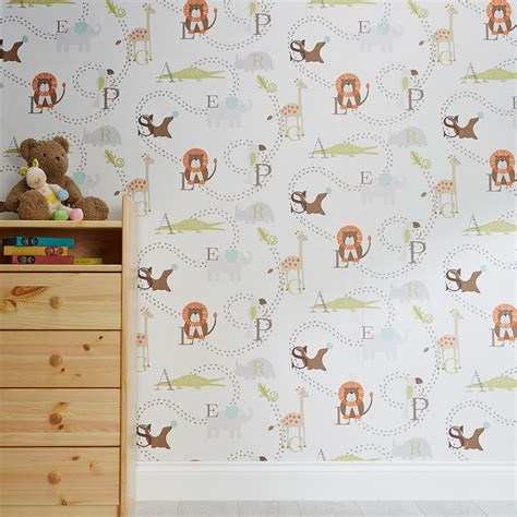 animal themed kids wallpaper contemporary wallpaper