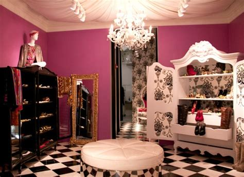 pinkblackwhiteclosetvanity dream closet pinterest