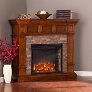 amesbury    faux stone corner electric fireplace