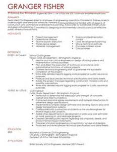 microsoft resume templates word civil engineer cv exle for engineering livecareer