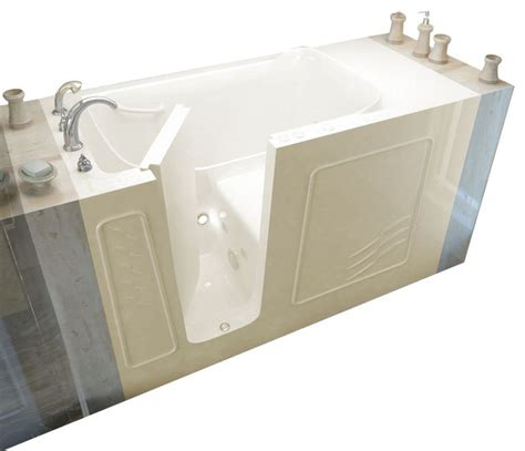 Meditub 30x60 Whirlpool Jetted Walkin Bathtub