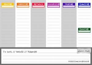 Wochenplaner für Alle - downloaden und einfach ausdrucken