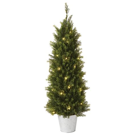 martha stewart living 3 ft pre lit cedar artificial