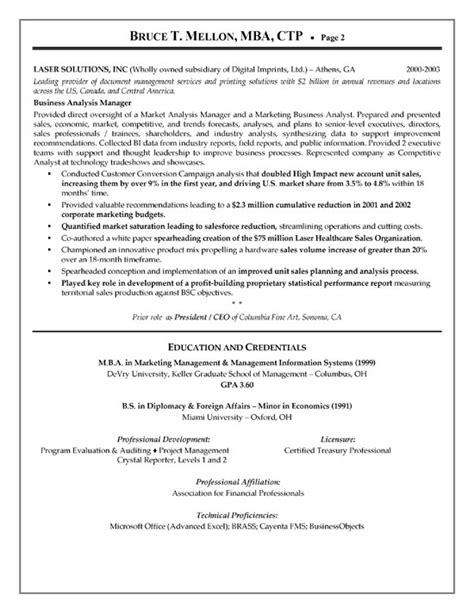 financial manager resume