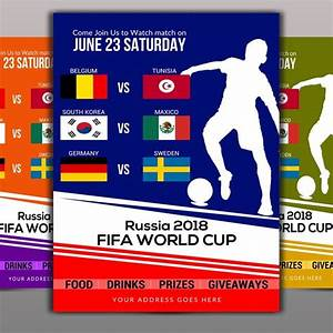 Fifa World Cup 2018 Flyer Template For Free Download On