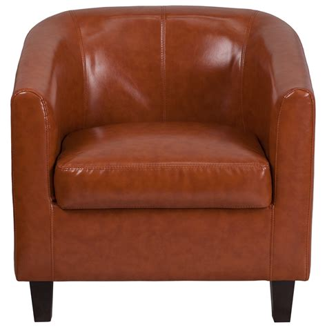 cognac leather lounge chair bt 873 cg gg by flash