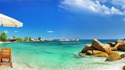 Beach Relax Paradise Ocean Wallpapers Sea Waves