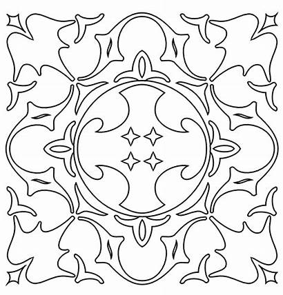 Coloring Pages Pattern Medieval Printable Patterns Cool