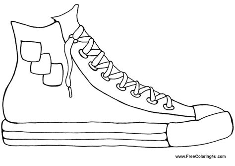 Coloring Shoes by Coloring Pages Shoes Printable Coloring Home