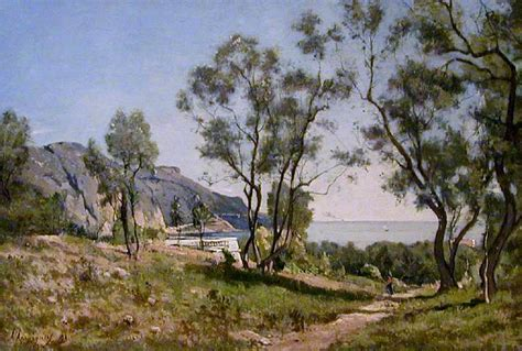 On Riviera by HARPIGNIES, Henri-Joseph