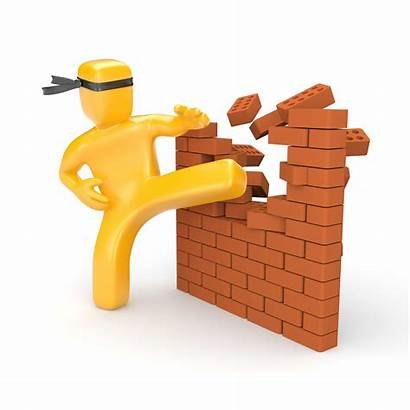Barriers Breaking Clipart Business Overcome Growth Communication