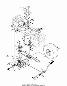 Mtd 13an795s001  2011  Parts Diagram For Drive  U0026 Rear Wheels