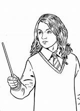 Magic Wand Potter Harry Holding Coloring Pages Colors Wands Adult Quilt Books sketch template