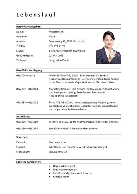Klassischer Lebenslauf Vorlage by Lebenslauf Vorlage Klassisch Modern 11 Kostenlose