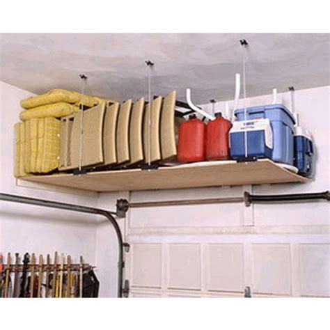 newage 4ft x 8ft ceiling storage rack garage ceiling mounted shelving hardware by heavy duty