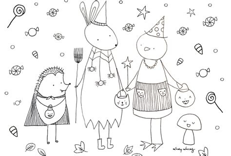Cute Halloween Coloring Pages To Print And Color!