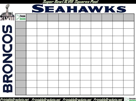 Open Office Football Pool by Bowl Squares Bowl Squares Template