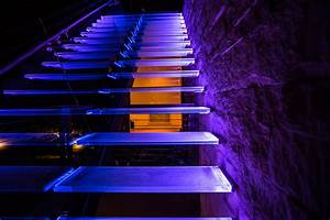 Outdoor Glass Stairs With Led Lights — Room Decors And