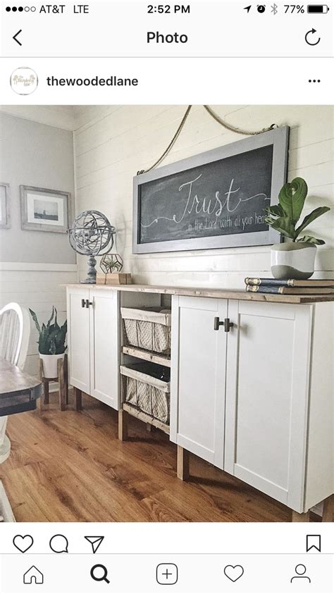 Kitchen Buffet Height by Built Buffet With Two Stock Cabinets From Lowes Added