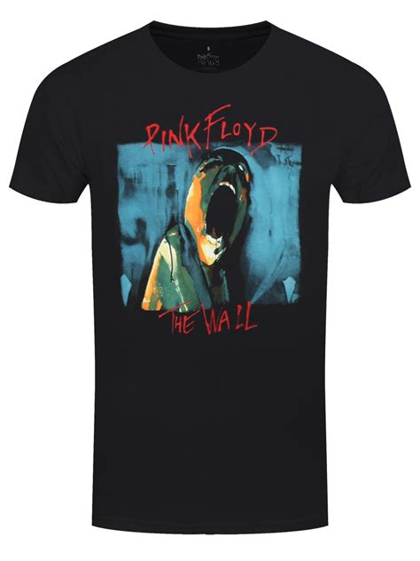 pink floyd the wall scream s black t shirt buy at grindstore