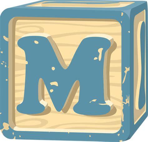 clipart misc npc letterblock b letter block m domain vectors 94926