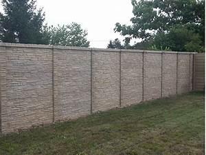 Panneaux Resine Imitation Pierre : cl ture b ton imitation pierre chailles ~ Melissatoandfro.com Idées de Décoration