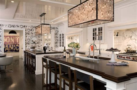Double Kitchen Islands Design Ideas