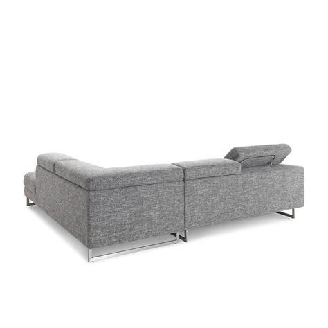 canape angle meridienne tissu canapé d 39 angle côté droit design 5 places avec méridienne