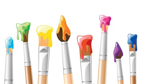 vector brush painting background free vector 4vector