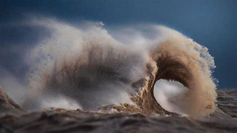 lake erie storms waves giant furious wave mountains mountain created storm strange form during kaboom