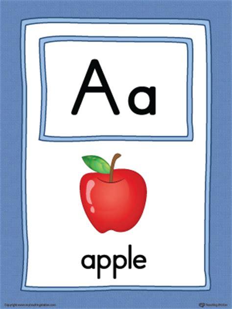 letter  large alphabet picture card printable color