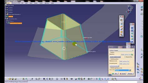 catia  tutorialgenerative sheetmetal workbenchsurfacic