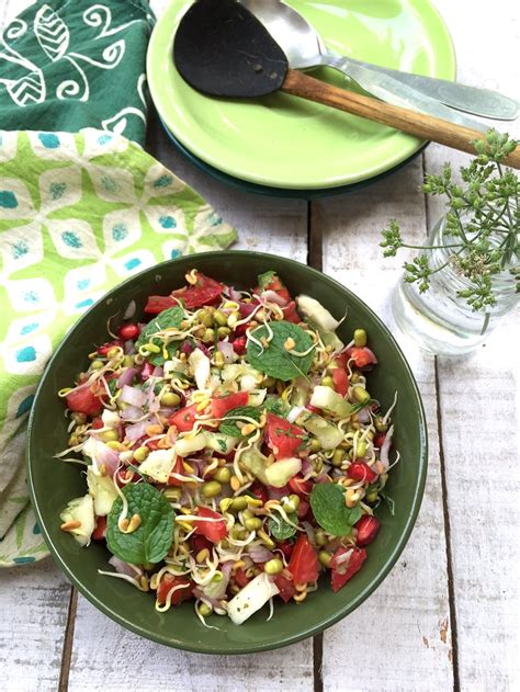 Sprouted Fenugreek Methi Seed Salad Recipe Saffron Trail