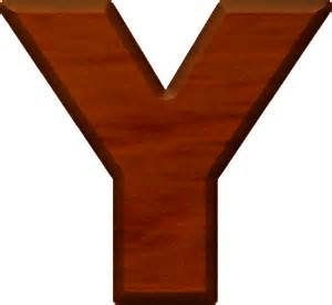 Cherry Wood Letter Y